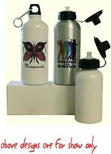 WATER BOTTLE  WITH YOUR OWN DESIGN/PICTURES/TEXT PERSONALISED FREE