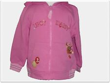 NEW UPSY DAISY PINK JERSEY HOODIE SWEAT TOP 6-12 12-18 18-23 MONTHS ZIP UP HOOD