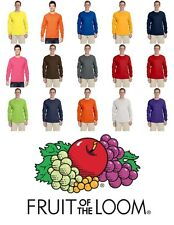 Fruit of the Loom Adult Heavy Cotton Long Sleeve T-Shirt Tee S-3XL 4930