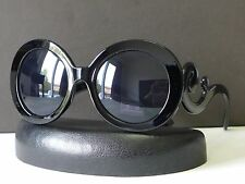 Womens Baroque Round Fashion Sunglasses Swirl Arms Designer Shades +Soft Bag 329