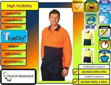 SW05TD High Visibily Safety Workwear; Long Sleeve Polo Shirt; 60% Cotton