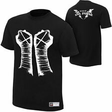 WWE AUTHENTIC CM Punk FISTS BLACK T-Shirt -  BRAND NEW
