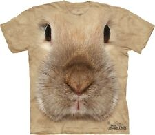 Big Face Bunny T-Shirt by The Mountain. Cute Rabbit Giant Head Tee S-3XL NEW