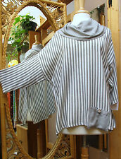 Dairi Moroccan Cowl Neck One Size Blouse Style # 2605 Cotton/Rayon Fits M-2X