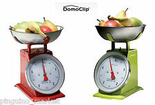Metallic Kitchen Scale+Stainless Steel Plate,Retro Style,French DOMOCLIP