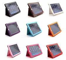 NEW PORTFOLIO FOLDING PU LEATHER STAND CASE WITH SLEEP FUNCTION FOR IPAD 2 3 4
