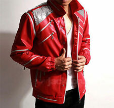 Michael Jackson MJ Costume Kid/Adult Beat It Leather Jacket Billie Jean Glove