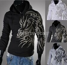 Mens Sexy Slim Fit Top Designed Hooded Hoodies Jackets Coats M2174 GBW