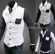 Fashion Stylish Men's Casual Slim Cardigan Blazer Jacket Coat Tops M2133 GBW