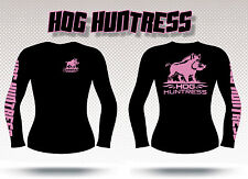 Gametrax Outdoors Women's long sleeve hunting t shirt,Hog Huntress,girls hunt
