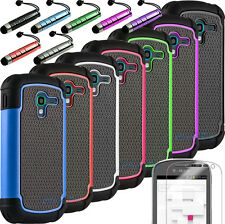 Impact Hybrid Rugged Hard Case Cover for Samsung Galaxy Exhibit T599N MetroPCS