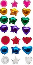 Helium Foil balloons Star, Round & Heart shape for all party in solid various co