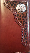 Leather Bi-Fold Wallet Rodeo Fashion Mens Wallets Checkbook PBR
