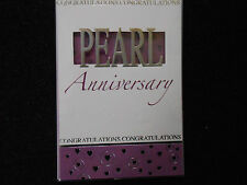 congratulations on your pearl 30 th wedding  anniversary(different design)