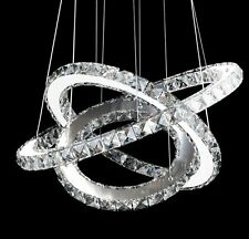1 Ring LED Modern Chic Contemporary Crystal Chandelier Ceiling Pendant Lighting