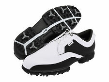 NEW NIKE TOUR PREMIUM MEN'S WATERPROOF LEATHER GOLF SHOES SIZE 11.5 WIDE WHITE