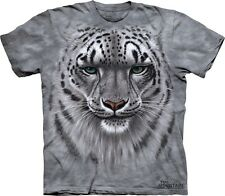 Big Face Snow Leopard Portrait T-Shirt by The Mountain. Sizes S-5XL NEW