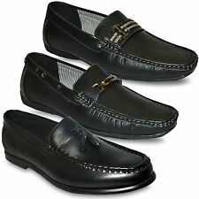 Mens New Round Toe Slip Ons mrp Wedding/ Party Black Formal Shoes Size UK