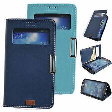 Window View Leather Case Flip Cover Card Wallet Stand SAMSUNG Galaxy S3 S4