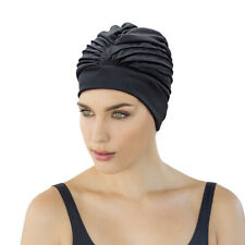 Fashy Turban Swimming Hat Adjustable Bathing Cap Lined Fabric Hat Stylish 3472