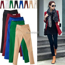 █ █ FASHION WOMENS Slim Fit Stretch Soft Skinny Leggings Pencil Pants Trousers