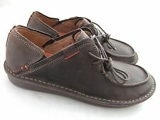 NEW CLARKS UNSTRUCTURED UN LIVERPOOL EBONY LEATHER CASUAL SHOES BNWT