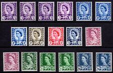 GB Regional (Multiple Listing) Wales Wilding Definitive Pre-Decimal