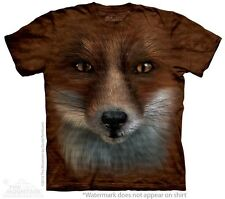 Big Face Fox T-Shirt by The Mountain. What Does The Fox Say Sizes S-5XL NEW