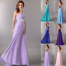 2014 New Stunning One Shoulder Bridesmaid Prom Gown Ball Evening Cocktail Dress