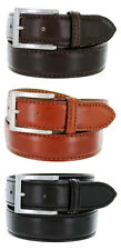 Mens Italian Designer Calfskin Leather Casual Dress Belt, 35mm 3 Colors!