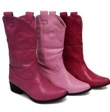 Womens Hot Pink, Bubble Gum Pink, Dark Pink Calf High Cowboy Boots NEW Fast Ship