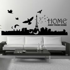 PARIS SKYLINE wall sticker eiffel tower stickers french france decal vinyl art