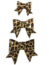 3d Leopard Print Vinyl Hair Bow (You choose size and clip)