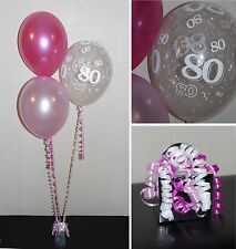 80th Birthday Helium Balloons - DIY Party Decoration Kit Clusters 5  - 15 Tables