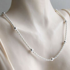 """Italian Sterling Silver Popcorn Chain Necklace With Balls, Lengths 16"""" to 20"""