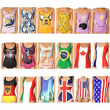 3D Graphic Print Beach Swimsuit Cartoon Anime TV 90s Adventure Time Bodysuit