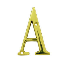 Bolton  3 inch House Letter in Bright Brass Finish Brass House Letter A-Z