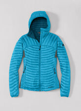 New Eddie Bauer Women's First Ascent Microtherm Hooded Shirt Hoodie Glacier Blue