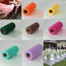 "1 Roll 6""X25 Yard  TULLE FABRIC SPOOL ROLL WEDDING BRIDAL BOWS TUTU NETTING DIY"