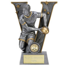 RUGBY TROPHY BALL V SERIES TROPHIES LEAGUE UNION 5 SIZES AVAILABLE ENGRAVED FREE