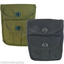 "2-Pocket Twist Lock Canvas Ammo Pouch 8"" x 6 1/2"" x 2"" - Belt Loops On Back"