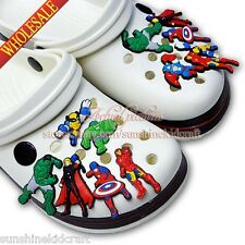 Avenger PVC SHOE CHARMS For wristband,Shoe Ornament,Kid Gift,Party favor