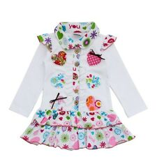 Children Autumn Fashion Dress For 1-6 Years Old Baby Girls Fall Cotton Dress