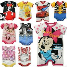 Lovely Infant Baby Boys Girls Rompers Jumpsuit Disney Cartoon Cotton 6-24 Months