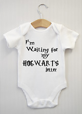 IM WAITING FOR MY HOGWARTS LETTER Funny Harry Potter Baby Grow Bodysuit Vest Top