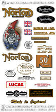 Norton 50 and 50Mk2 - RESTORERS DECAL SETS - 1956-66: Variations for all Models