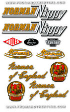 1955-62: Norman Nippy - RESTORERS DECAL SETS - Variations for all Models