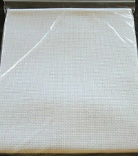 14 COUNT WHITE AIDA - VARIOUS SIZES AVAILABLE - INDIVIDUALLY BAGGED & LABELLED