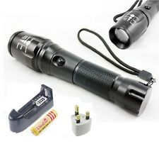 2000LM UltraFire CREE XML T6 LED Zoomable Flashlight Torch 18650 Lamp Light inUK