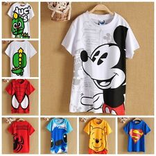 kinder junge Disney Cartoon T-shirt baumwolle neu attraktiv hell weich